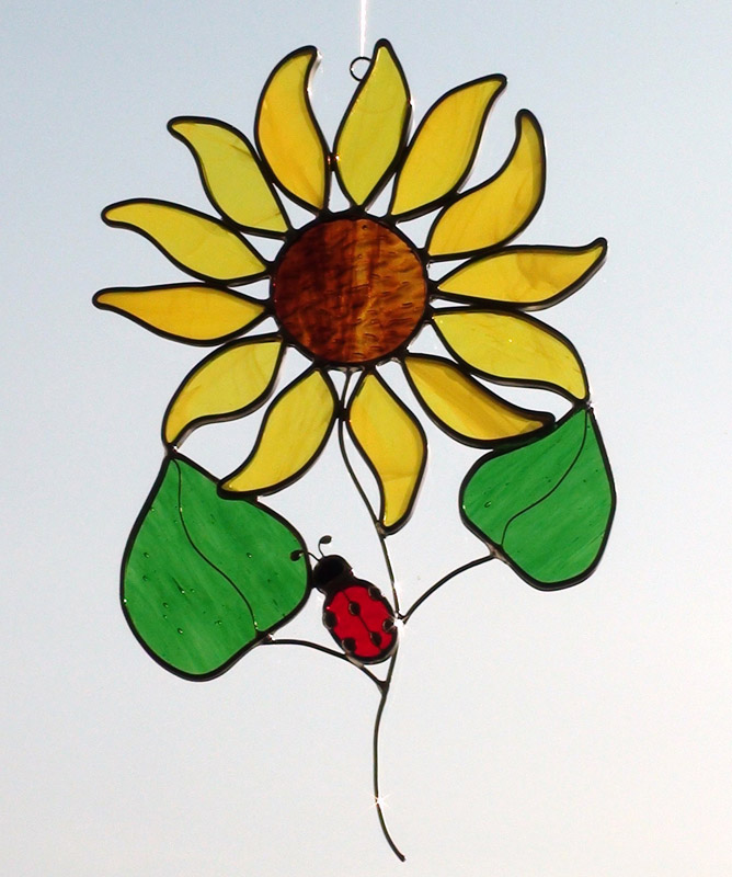 Stained Glass Flower Themed Sun Catchers Imagination Creation