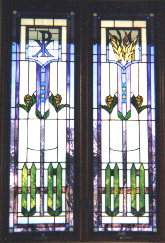 Custom Stained Glass Windows Installed at Oakfield Methodist Church in Oakfield Wisconsin