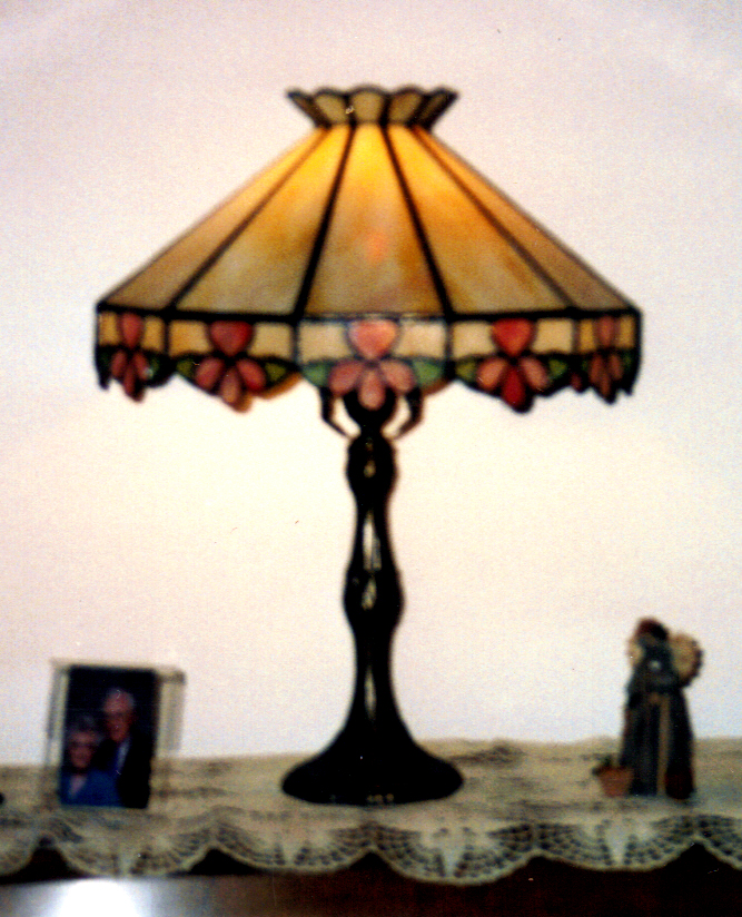 Stained Glass Iris Table Lamp Custom Ordered